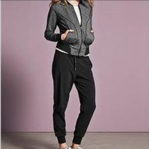 Athleta Slub Bombastic Full Zip Bomber Jacket S